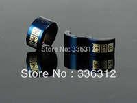 EA0016   Black Stainless Steel Gold Tone Hoop brand Earrings Cool studs