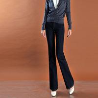 Free shipping 2013 High in the waist elastic slim female bell-bottom jeans 30 e2
