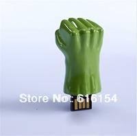 4GB 8GB 16GB 32GB New avengers alliance hulk hand model usb 2.0 memory flash stick thumb drive Free Shipping