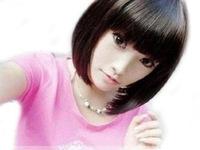 Cute BOB Straight Natural Black Wig (Model: Jf010163)