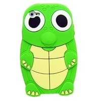 Turtle Dinosaur Silicone 3D Case Cover for iPhone 4/4S - Green Free Shipping