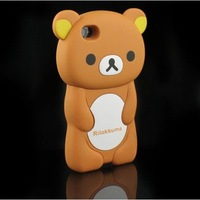 3D Brown Rilakkuma Bear Hard Case Cover for iPhone 4 4S 4G Free Shipping