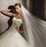Free shipping 2013 New arrival luxury diamond tube top bandage sweetheart  wedding dress court train wedding gown european style
