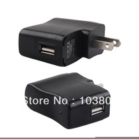 1000PCS/lot USB ADAPTER AC Power Supply Travel Wall Adapter Adaptor USB Charger 5V 500MA EU US Plug for Cell Phone MP3 MP4