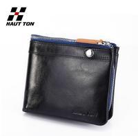 2013 Hautton New arrival genuine leather Fashion men wallet Hot sale Cheap male unique Coin purse Wholesale