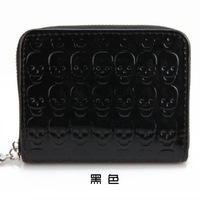 2013 coin purse smarten women's non-mainstream fashion women's coin skull case card holder single zipper