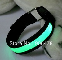 Free shipping 5Pcs/Lot Roadway Jog/Bicycle Flashing Armbands safety LED light up Flexible armbands