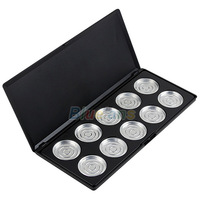 10pcs 36mm Empty Eyeshadow Aluminum Pans with Palette Eyeshadow Boxes Cases Makeup Tool Kit Free Shipping