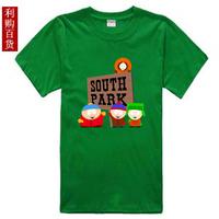 Ep cartoon south park male Women 100% lovers cotton o-neck short-sleeve T-shirt