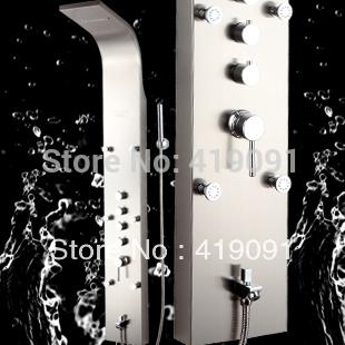 Shower copper bibcock shower column shower set shower screen stainless steel sanitary FTS813A(China (Mainland))