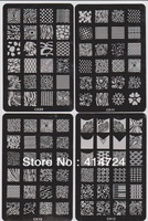 NEW Arrival Design CK Series XL Medium Size 18 different Konad Stamp Stamping Image Plate Print Nail