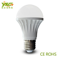 Free shipping wholesale 4pcs/lot super brightness 630lm 7W e27 led bulb  Plastic body with PC lamp shade material