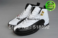 Fast Shipping Wholesale Famous Top Quality Retro XII 12 Women's Sports Basketball Shoes (white / black / taxi)