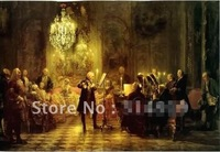 High Quality Large size Classical Oil Painting of Royal Music and Free Shipping