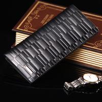 free shipping Harrms 2013 wallet male long design wallet vertical male cowhide wallet medium-long purse