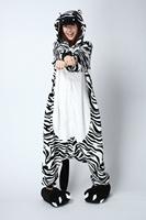 Flannel sleepwear stitch cartoon animal one piece lovers lounge cosplay costume pajama