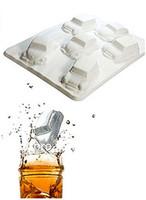 FREE SHIPPING  New arrival mini car  shaped Freeze-1PC silicone  Ice Cube Tray Mold Maker   Random Colour