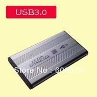 """Free shipping 5pcs/lot USB 3.0 HDD SATA Hard Disk Drive Enclosure,2.5"""" inch Hardisk Drive box,USB HDD External Enclosure"""