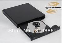 100% original new External DVD Lightscibe optical drive USB2.0 DVD-RW drive throw in DVD-RW Lightscribe disc