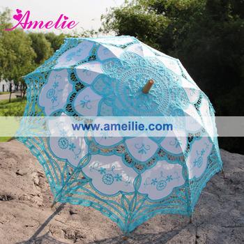 , Battenberg Синий Свадьба Кружево Umbrella
