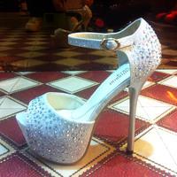 Free shipping,Sexy 14cm high heels open toe rhinestone super high platform stiletto sandals female gold silver wedding shoes