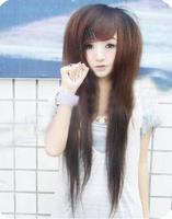 Fluffy long straight hair wig scroll wig non-mainstream wig bobo