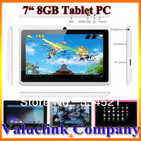 Germany Stock 7' inch Android 4.0 A13 Tablet PC MID Capacitive Touch Wifi 8GB 1.0GHz  Best Gifts Media Player Wholesale&Retails