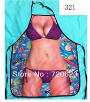 2013 new design sexy free shipping interesting kitchen cooking apron purple bikini - sexy apron - present