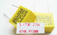 safety capacitor 0.47UF 275V 474K Pitch 15mm