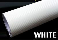 High quality white152 CM x 58CM 3D Carbon Fiber film Vinyl Car Sticker Carbon fiber sheet Free shipping