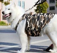 Camouflage large dog summer clothes big dog t shirt S M L XL