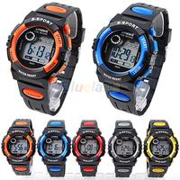 Fashion Men Women Unisex Sports Digital LED Quartz Alarm Day Date Rubber Wrist Watch 5 Colors 00TE