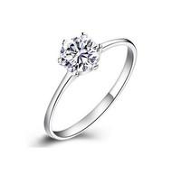 2014 Wholesale/Quality Goods/Wedding rings/women ring/six claw crown 1 karat CZ diamond/zircon CZ diamond ring/ tail ring