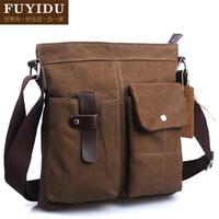 2014  Canvas  bag men's messenger bag shoulder  vintage bag casual