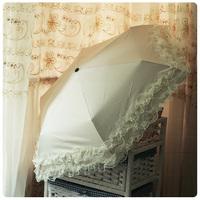 Double layer lace small umbrella elargol ultra-light sun umbrella umbrella sun umbrella sun protection umbrella