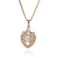 D0067 Newest 2013 Fashion Jewelry Set Pendants Necklace 18K Plated Gold Inlay Zircon Charms Wholesale