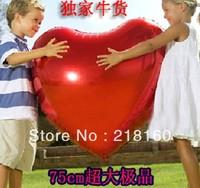 5pcs /lot  5colors Heart Shape Balloons Love Ballon Foil Balloons,Wedding Favors Toys&Gifts for Baby 75cm