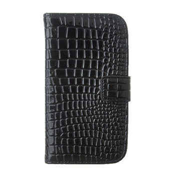 Luxury Cell Phone Bag Pouch Full Body Flip Cover Shell Crocodile Pattern PU Leather Wallet Case For Samsung Galaxy S4 IV i9500