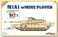 Dragon model 9141 1/35 M1A1 w/MINE PLOUGH U.S.1st Infantry Division Big Red One plastic model kit