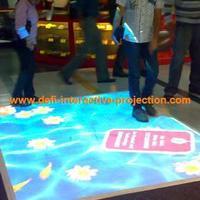 Interactive floor system, dancing floor, 3D interactive projection display system