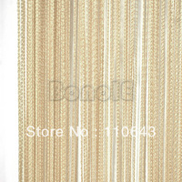 New 300cm*300cm Light Coffee String Curtain, Line Curtain, String panel, Fringe panel, Room divider, Wedding drapery 16633