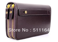 New arrive!Factory price +big discount wallet purse vintage handbags Genuine leather commercial clutch double zipper  QQ71017101