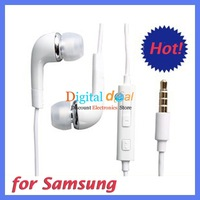 Stereo Headphones Earphone With Mic Volume Control Remote For Samsung S4 i9500 Note 2 N7100 Galaxy S3 Free DHL!100pcs/lot