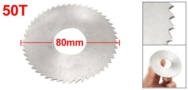 Дисковая пила Slitting Saw 80 x 0.9 x 27 HSS 50 80mm / 3 1/8 6cm x 0 05cm x 1 6cm 72 teeth hss slitting saw blade cutting tool