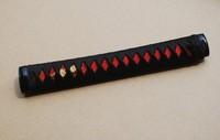 Samurai Sword Japanese Katana Sword Handle Tsuka Real Rayskin Fuchi Kashira HZ8