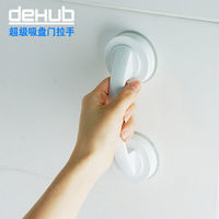 Free shipping Dehub strong suction cup sliding door handle bathroom glass door handle suction bathroom big armrest waterproof