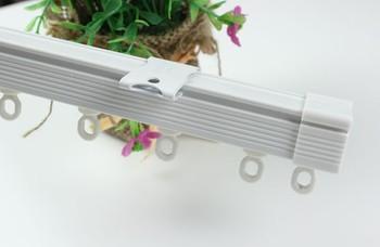 Customize aluminum alloy curtain rod curtain guide rail double slide