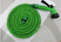 Hot sale!  75 FT Rewindable and Anti-Corrosion  Expandable Rubber  hose Garden Water Hose Blue and Green Color +Spary Gun