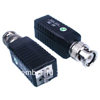 AFP00013 Free Shipping 400-600m CCTV Video Balun Passive Transceivers UTP Baluns Cat5 Cable