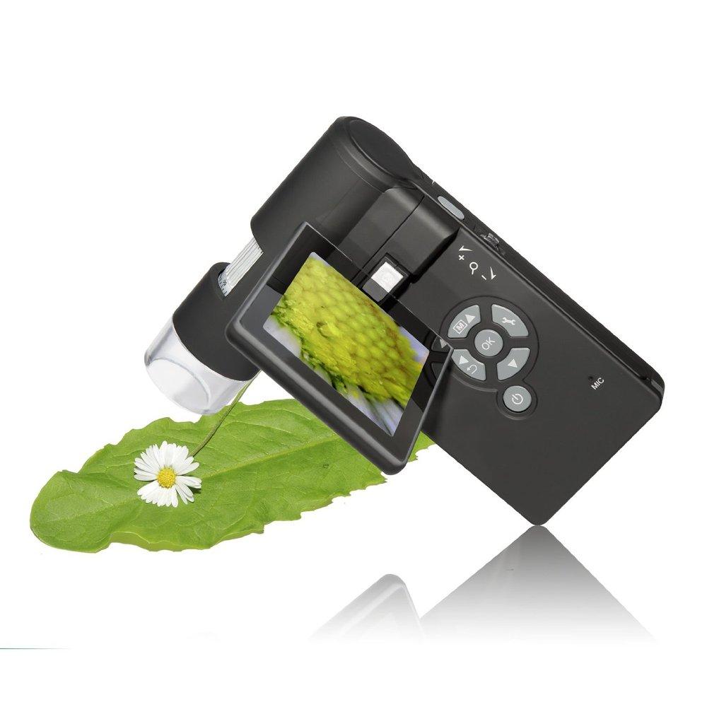 Portable 60X 200X 500X handleld digital Microscope 5mp USB camera With 3'' TFT Color LCD Display(China (Mainland))